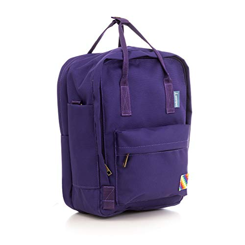 Peacepack Original Compact Size Backpack with Padded Laptop Pocket (Byzantium Purple)