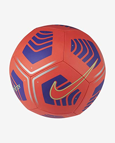 Nike Pitch Football - Balón de fútbol, color carmesí brillante, color verde y carmesí brillante, talla 5