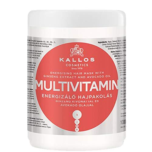 Kallos KJMN multivitamine energetiserend haarmasker met ginsengextract en avocado-olie, 1000 ml