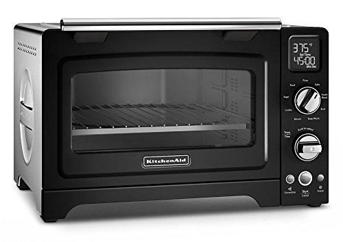 KitchenAid KCO275OB Convection 1800W Digital Countertop Oven, 12', Onyx Black (Renewed)