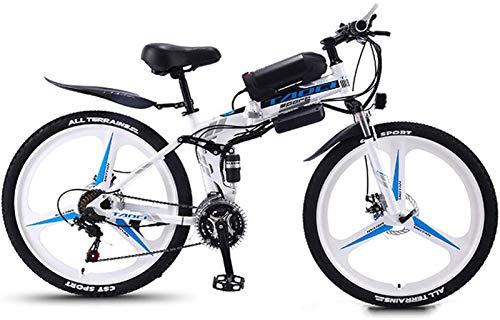 Bicicletta Elettrica, Biciclette elettriche per adulti 350W pieghevoli montagna Ebike in alluminio Pendolaring Bicicletta elettrica con 21 velocità Gear & 3 Modello di lavoro Bici elettrica E-bike ,Bi