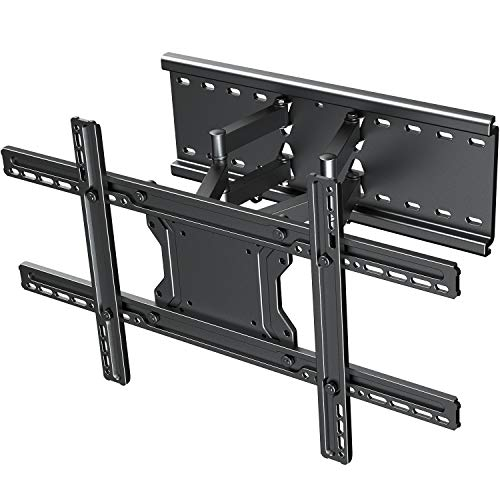 """TV Wall Mount Bracket Full Motion- Fits 16"""", 24"""" Wood Studs Articulating Swivel TV Mount for 37-75 Inch LED, LCD, OLED, Flat Screen TVs - Weight up to 132lbs - VESA 600x400mm PERLESMITH"""