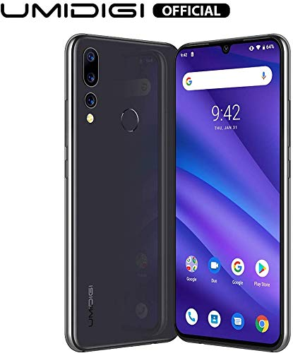 UMIDIGI A5 Pro Unlocked Mobile Phones Free Dual 4G Smartphone 16MP+8MP+5MP Camera Smartphones 32GB ROM 4GB RAM 4150mAh Battery 6.3' FHD+ Android 9 Pie (Grey)