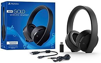 Sony PlayStation Gold Wireless Headset 7.1 Surround Sound PS4 New Version 2018 (Renewed)