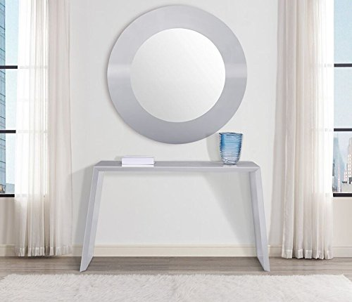 Whiteline Modern Living Modern Contemporary Occasional Emily Console Wall Mirror Gray