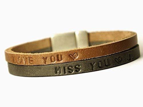 Namensarmband LEDER Familienband Art. 96 Herrenarmband inkl. WUNSCHTEXT, Personalisiertes Armband, Weihnachtsgeschenk, Valentinsgeschenk