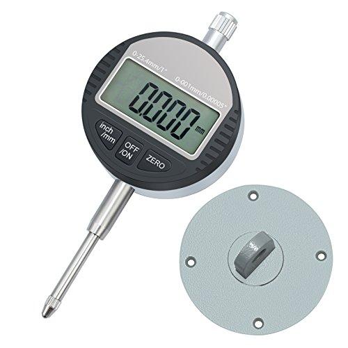 Neoteck DTI Indicador de Marcación Digital 0.001mm/0.00005'' Indicador de Sonda Digital Indicador de Calibración Rango 0-25.4mm / 1'' Indicador de Prueba de Dial Indicador Electrónico Indicador