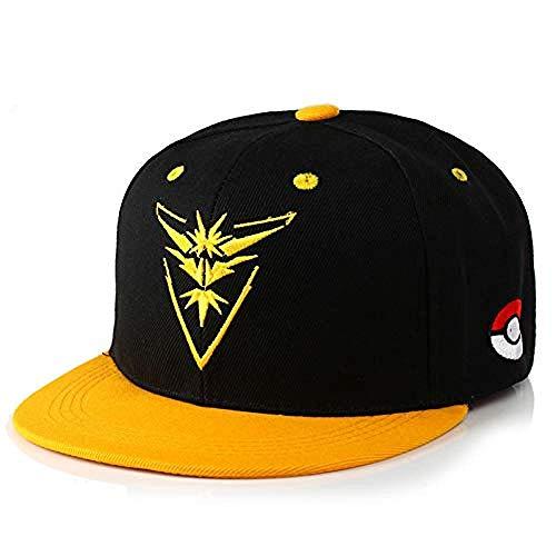 DWcamellia Hut Pokemon Go Team Courage Baseballmütze Unisex-Stickerei Mystery Team Instinct Hip Hop-Mütze , Gelb