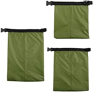 BEESCLOVER 3pcs Coated Dry Bag Silicone Fabric Waterproof Organizers Storage Pouch Outdoor Camping Rafting Swiming Canoeing Boating Dry Bag