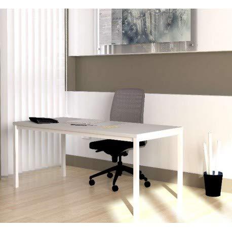 DeskandSit Mop72001 Tavolo da Lavoro 160x60cm bianco