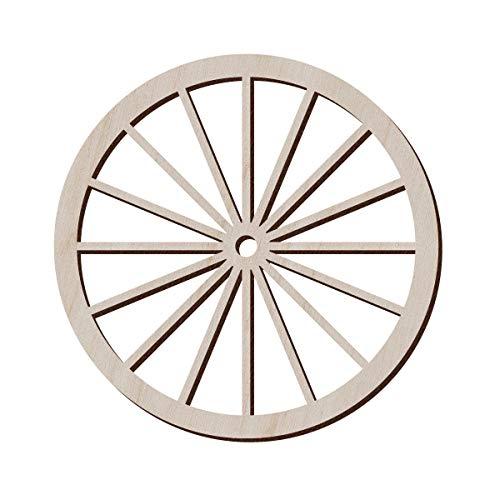 Juego de 10 ruedas de madera para manualidades y decoración – Rueda de carro antiguo – Réplica de rueda Amish – Rueda de vagón, 12.7x12.7 cm