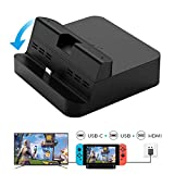 WeChip Switch Dock Set, Portable Dock Replacement Case Compatible for Nintendo Switch, Support Smart Phones/Samsung DeX Mode/ Huawei PC Mode