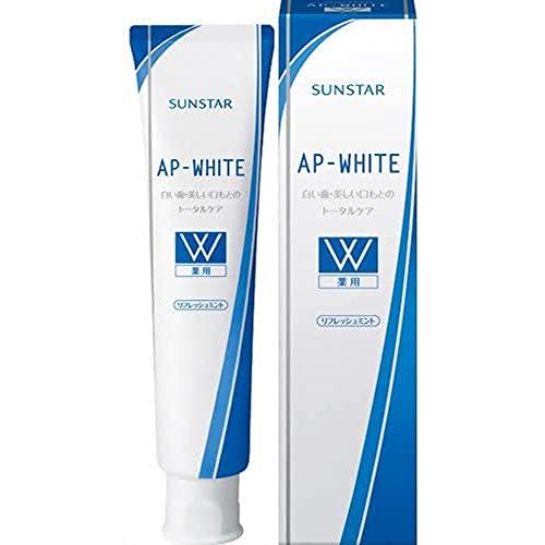 [医薬部外品]薬用APホワイト歯みがき[リフレッシュミント]<美白・タバコのヤニとり・むし歯(虫歯)予防・口臭防止・歯周病予防>