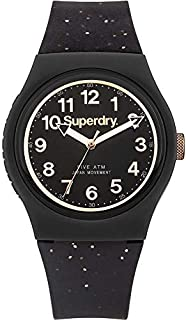 Superdry Urban Analogue Black Case, Black Dial And Black Watch For Women - SYL167B