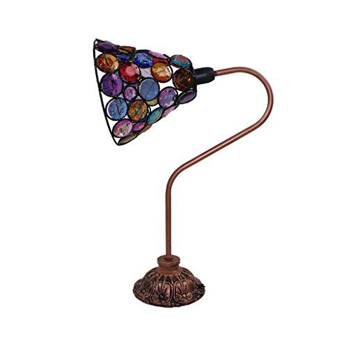 Retro-Stil verstellbare Eisen Tischlampe, Plexiglas Lampenschirm, Wohnzimmer Schlafzimmer Nachttisch Restaurant Couchtisch Lampe, E14, 13 * 17 * 36cm (Größe : Button switch)