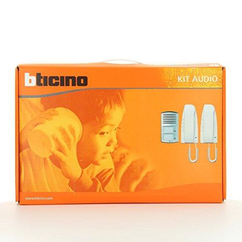 Bticino - Kit audio 2 vivienda su linea 2000 sfera aluminio