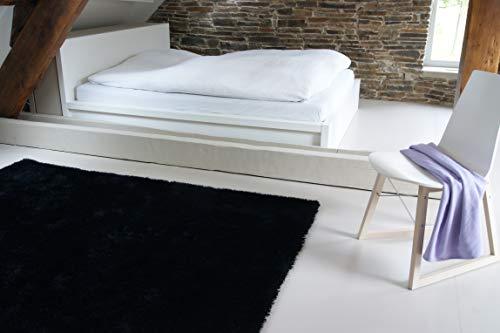 Moderner Teppich Seasons schwarz 120x170 cm - flauschig weicher Hochflor Teppich in aktuellen Trendfarben