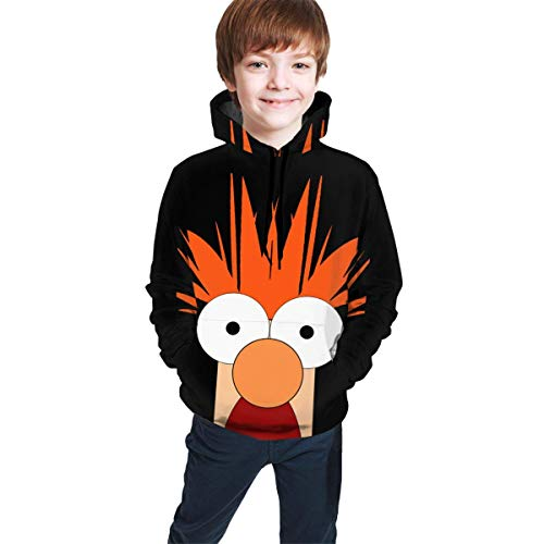 YGYP Mup_Pets Face Funny and Good-Looking Teen Hooded Sweate Jacket Black Comfortable Classic Boy and Girl Unisex-Baby