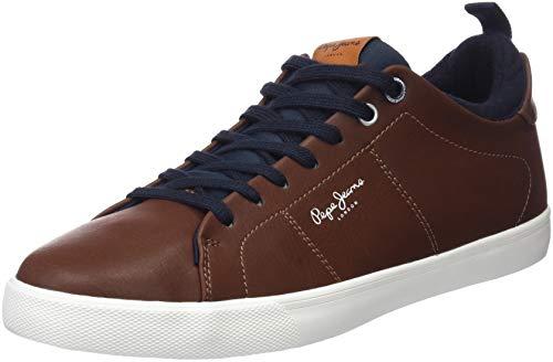 Pepe Jeans London Marton Basic, Zapatillas para Hombre, Tan 869, 43 EU