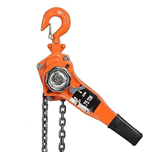 Polipasto de cadena, 3 m, herramientas de elevación manual, polea de trinquete, palanca...