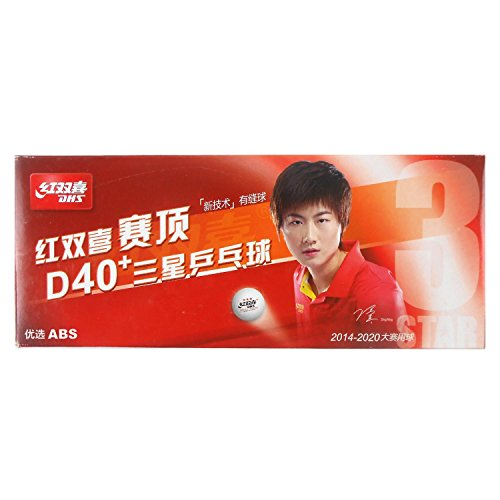 DHS 10x D40 and 3-Star White Table Tennis Balls