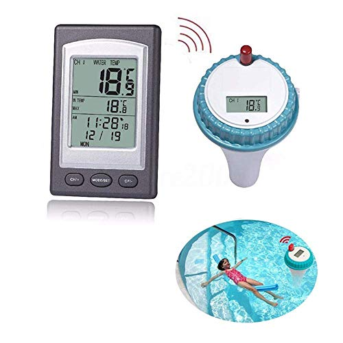 Hanyan Wireless Pool Thermometer, Remote Pool Thermometer Digital Floating Pool and Spa Thermometer for Swimming Pool