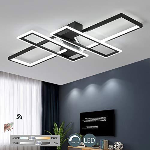 KBEST Luz De Techo LED Lámpara Regulable con Control Remoto