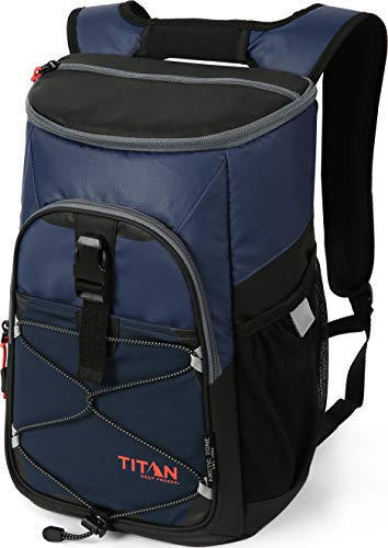 Arctic Zone Titan Deep Freeze 24 Can Backpack Cooler, Blue