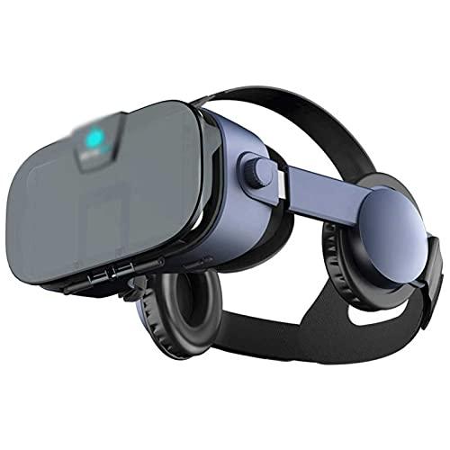 Adesign Auriculares VR, Auriculares de Realidad Virtual, Gafas VR, para Juegos inmersivos en películas en 3D con visión panorámica de 360 Grados, para teléfonos móviles de 4.0-6.0 Pulgadas para iOS