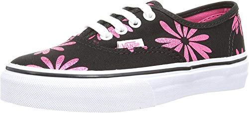 Vans Womens Authentic Canvas Lace Up Sneakers Casual Plimsolls Shoe - Black/Black - 6.5