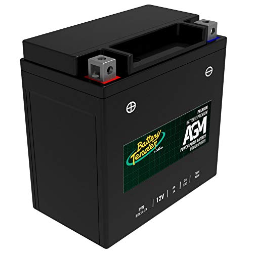 Battery Tender AGM Motorcycle Battery: Absorbent Glass Mat Battery for Motorcycles, ATVs, UTVs, and More - High Performance 12V 14aH 230 CCA Powersports Engine Start Battery - BTX14-FA