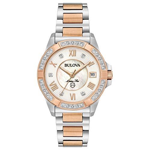 Bulova Women's Analog-Quartz Watch with Stainless-Steel Strap, Two Tone, 16 (Model: 98R234)