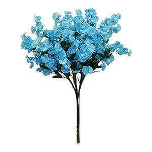 Floral Décor Supplies for 12 Baby's Breath Artificial Gypsophila Silk Wedding Flowers Centerpieces Faux for DIY Flower Arrangement Decorations – Color is Aqua