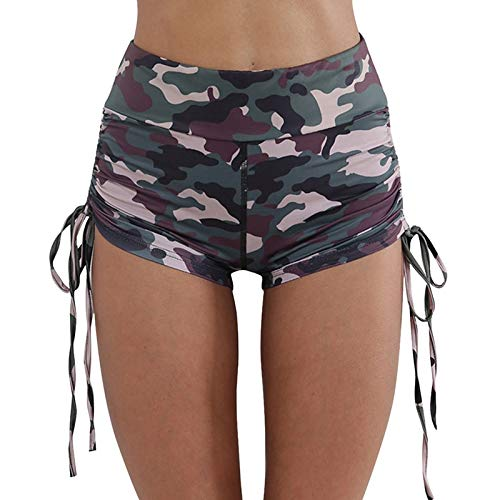 WWLIN Mujeres Yoga Sport Running Shorts Leggings Camo Stretch Trouser Pantalones Cortos de Yoga Running Short Fitness Ropa Jogging Workout Shorts