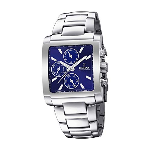 Festina Herren Chronograph Quarz Uhr mit Edelstahl Armband F20423/2