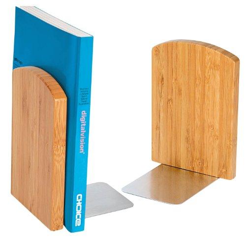 Wedo 611207 Buchstützen (aus Bambus Set 2-teilig) braun