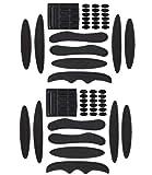 PAXLamb Helmet Padding Kit 27PCS Bicycle Replacement Universal Foam Pads Set Helmet Cushions for Bike Cycling Motorcycle Helmet (Black+Black)