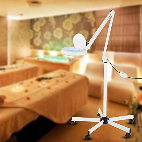 8X Magnifying Lamp, Stand Floor Lamp, Skincare, Beauty Manicure, Tattoo, Lips, for Home and Beauty Salon, Long Time Focus