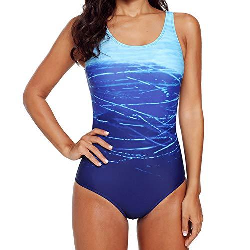 Jywmsc Costumi Intero Donna Mare Sexy Push Up Apri Indietro Costume da Bagno Cambio Graduale Sportivo Monokini