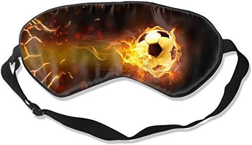 Máscara de sueño deportiva de fuego, pelota de fútbol impresa, máscara de ojo para dormir, correa ajustable para la cabeza, vendaje nocturno para mujeres y hombres, dormir por la noche, viajes, siesta