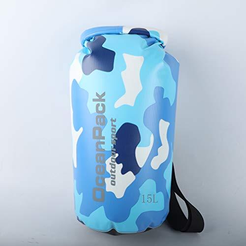 WEIHE 防水バッグ プールバッグ 防災バッグ ドライバッグ 10L 15L 20L 防水リュック 旅行袋 水泳 温泉 キャンプ 青い