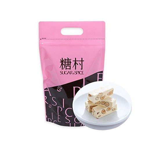 『《糖村》法式牛軋糖(フレンチヌガー)-400g (ジッパーバッグ) 《台湾 お取り寄せ土産》 [並行輸入品]』の1枚目の画像