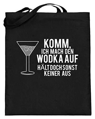 Komm, Ich Mach Den Wodka Auf, Hält Doch Sonst Keiner Aus! - Schlichtes Und Witziges Design - Jutebeutel (mit langen Henkeln)