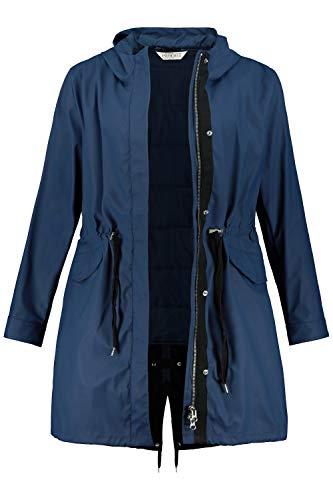 Studio Untold Damen raustrennbarer Weste Parka, dunkelblau, 54 Größen