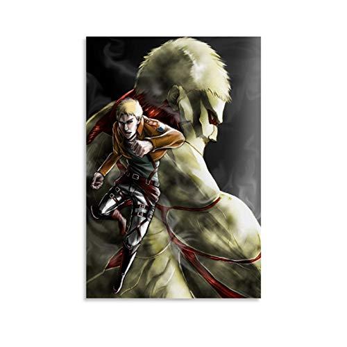Jiaobaba Attack on Titan Armored Titan Reiner Attack on Titan Titan Art Poster decorativo Pintura de la pared Arte de la sala de estar carteles de 40 x 60 cm