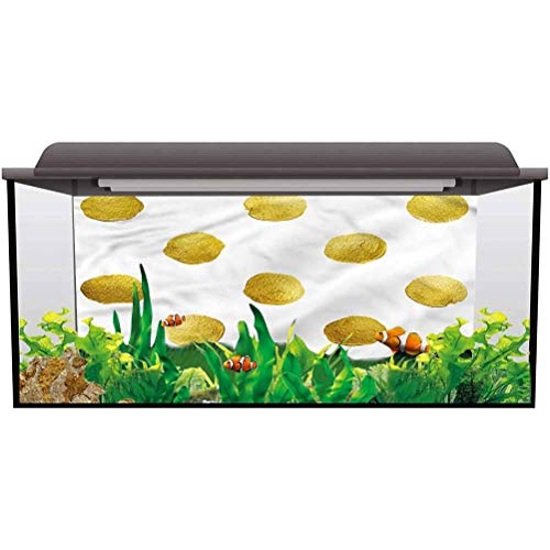 bybyhome Fish Tank Background Abstract,Spots with Ombre Effects PVC Adhesive Decor Pape L36 X H16 Inch