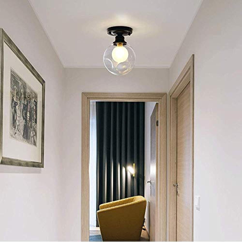 Amerikanischen retro glas schmiedeeisen magische bohne deckenleuchte Nordic einfache wohnzimmer studie schlafzimmer flur ganglichter