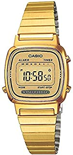 Casio Womens Quartz Watch, Digital Display and Stainless Steel Strap LA670WEGA-9EF