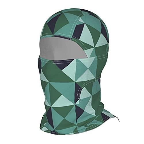 Donono Polaina para el cuello, estilo retro y geométrico triángulo pasamontañas, bandana con protección UV para el clima frío, para esquí, para hombres, mujeres, motocicleta, ciclismo, diadema táctica