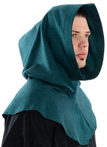 HEMAD Mittelalter Kapuze grün Baumwolle Mittelalterliche Kleidung